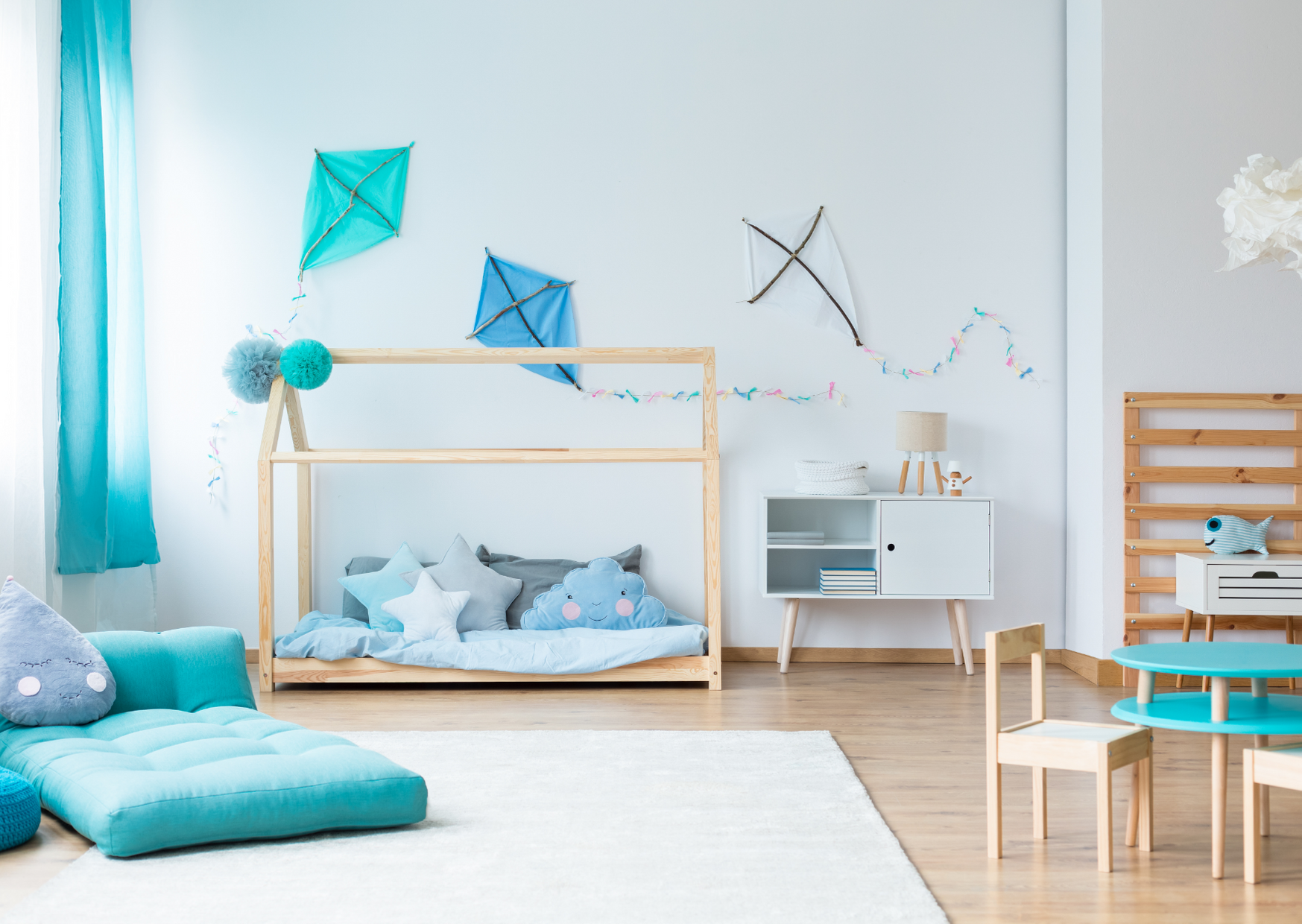 Wood in childrens bedrooms